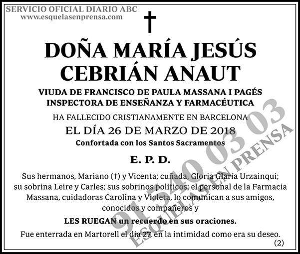 María Jesús Cebrían Anaut